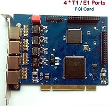 Quad Span ISDN PRI T1/E1 Card,4 E1/T1 Ports, Digital PRI SS7,Supports Freepbx,Issabel,AsteriskNow,Asterisk Card PCI For Business VoIP Telephone Appliance IP PBX