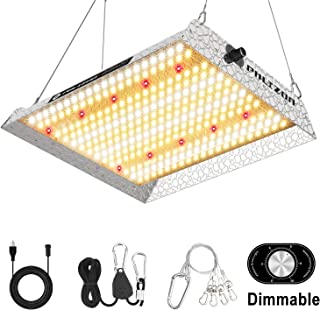 Phlizon Upgrading 1000W Dimmable Plant LED Grow Light Full Spectrum Grow Lamp for Indoor Plants Waterproof Zero Noise Growing Light for Hydroponic Indoor Seeding Veg and Bloom 2.5x2.5ft Coverage