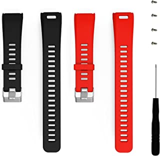 ECSEM Replacement Soft Silicone Bands Straps Compatible with Garmin vivosmart HR ONLY (not The 4J3 Model; not vivosmart hr +; not vivosmart hr Plus)