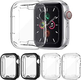 FITA [4 Piezas] Funda Compatible con Apple Watch Series 6/5/4/SE 44MM Protector, Suave TPU Protector de Pantalla de Crista...