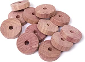 woodluv Eco-Friendly 12 Organic Natural Clothes Moth Repellent Cedar Rings With Odour Protection (Chemical Free)