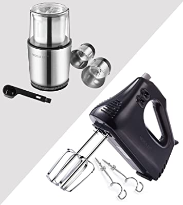 MOSAIC Electric Coffee Grinder and Electric Hand Mixer Set