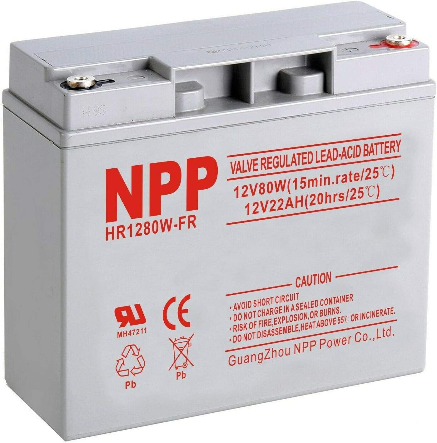 NPP HR1280W 12V 480Watts 80W Cell Rechargeable Rate Ba High New New color Orleans Mall UPS
