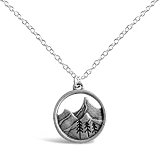 3D Mountain Range Necklace RV2, Mountains Nature Necklace, Ideal Outdoorsy Gifts for Women, Gifts for Nature Lovers