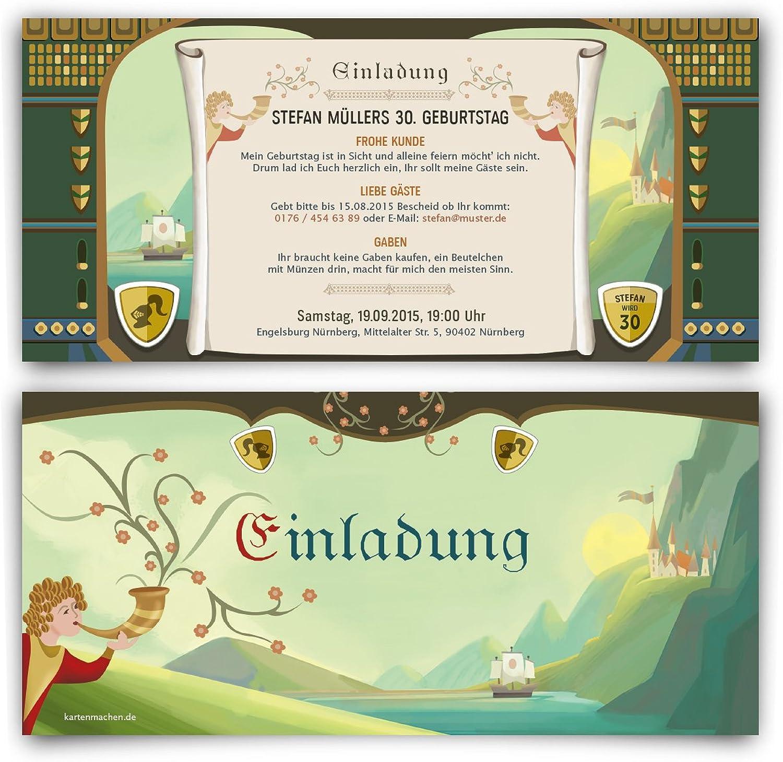 Einladungskarten zum Geburtstag (40 Stück) Mittelalter Mittelalter Mittelalter Ritter Burg Schloss Einladung Karte B00W7DV4GW  | Schön und charmant  c26103