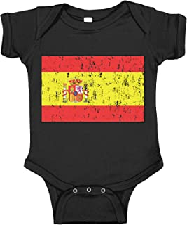 Amdesco Spain Flag Spanish Infant Bodysuit