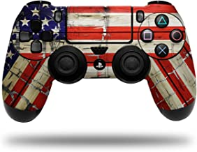 Vinyl Skin Wrap for Sony PS4 Dualshock Controller Painted Faded and Cracked USA American Flag (CONTROLLER NOT INCLUDED)
