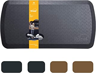 """Anti Fatigue Comfort Floor Mat by Licloud -20""""x32""""x3/4"""" Professional Grade Quality Perfect for Standing Desks, Kitchens, and Laundry - Relieves Foot, Knee, and Back Pain(Black)"""