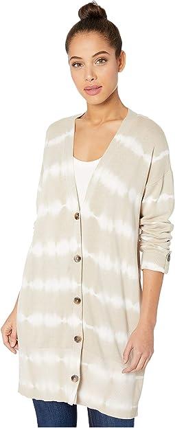 Modern Beige/White Tie-Dye Stripe