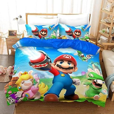 Edredon De Mario Bros.Amazon Es Mario Bros Juegos De Fundas Para Edredon Edredones Y