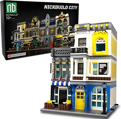 popular Nickbuild Street Summer popular Coffee Shop MOC Building Blocks Toy, Towns Series Kits, Collectible Play Model Set and Building City Toys for Kids and outlet sale Teens (1278 PCS) outlet online sale