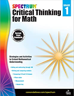 Spectrum | Critical Thinking for Math Workbook | 1st Grade, 128pgs