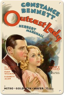 Outcast Lady Constance Bennett Vintage Film Movie Poster c.1935 Art Print 8 x 12 in Tin Sign Multi MTSA8423