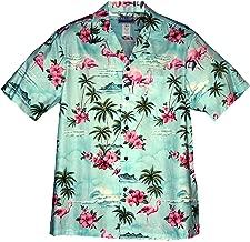 RJC Men's Pink Flamingo Hibiscus Hawaiian Shirt