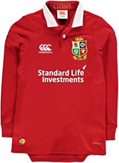 Official Brand Canterbury British and Irish Lions Classic Jersey 2017 Juniors Boys Rugby Red