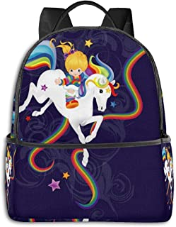 Rainbow Brite And Starlite Memories Men's Women Specially High Density Thick Canvas Backpack Travel Wallet Shoulder Bag