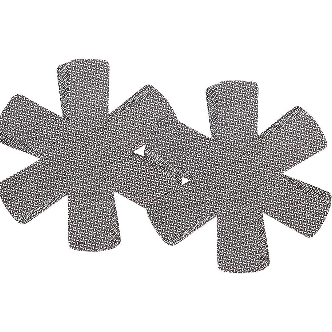 寛容座るクラフトHayder スタッキングシート フライパンのキズつき防止マット テーブルキッチンツール 10枚セット (ブラック)