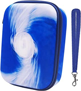 PAIYULE Hard Case Compatible Phase 10 Card Game. Fits up to 360 Cards. Includes 2 Removable Divider(Blue)