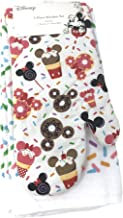 Best Brands Disney Mickey Mouse 3 Pc 100% Cotton Towel Kitchen Linen Set - 2 Dish Towels, 1 Oven Mitt, Colorful Sprinkles ...