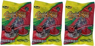 Jovy Enchilokas Watermelon Flavor & Tamarind Covered Gummies with Chilli   Mexican Candy, Chilli - Covered Snacks Pack of 3 6oz each