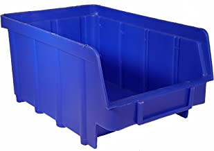 80 stuks stapelboxen blauw Gr.2 (102x167x76mm) kunststof PP opslagdozen stapelbakken met ophangvoorziening