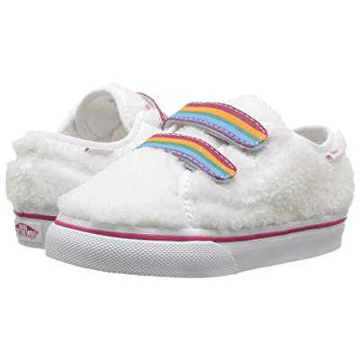 Vans Kids Style 23 V (Infant/Toddler) ((Shearling Rainbow) True White) Girls Shoes