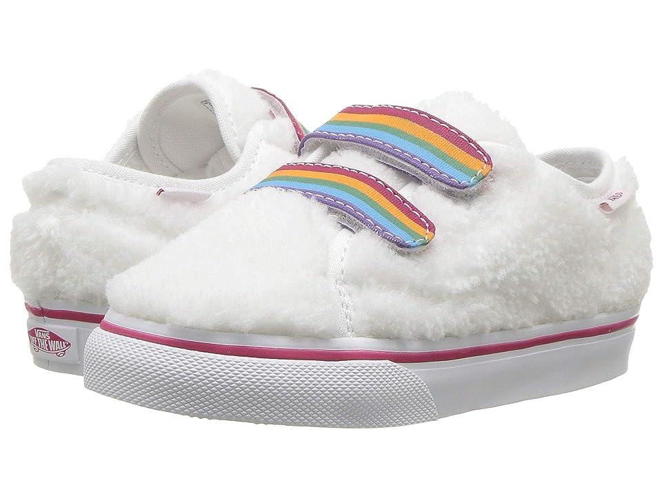 Vans Kids Style 23 V (Infant/Toddler) ((Shearling Rainbow) True White) Girls Shoes