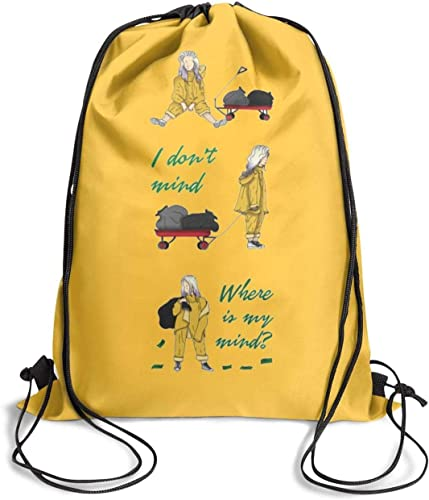 UNOPRTPT Billie-Eilish- Cosmetic Bag Drawstring Backpack Lightweight for Women Girls Party Travel