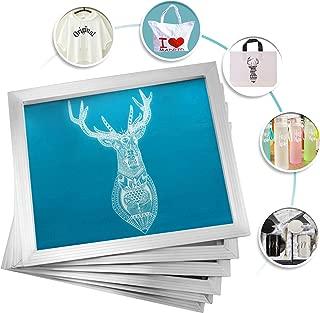 VEVOR Silk Screen Frame 6 Pieces Aluminum Silk Screen Frame 10x14 Inch Silk Screen Printing Frame with White 156 Count Mesh