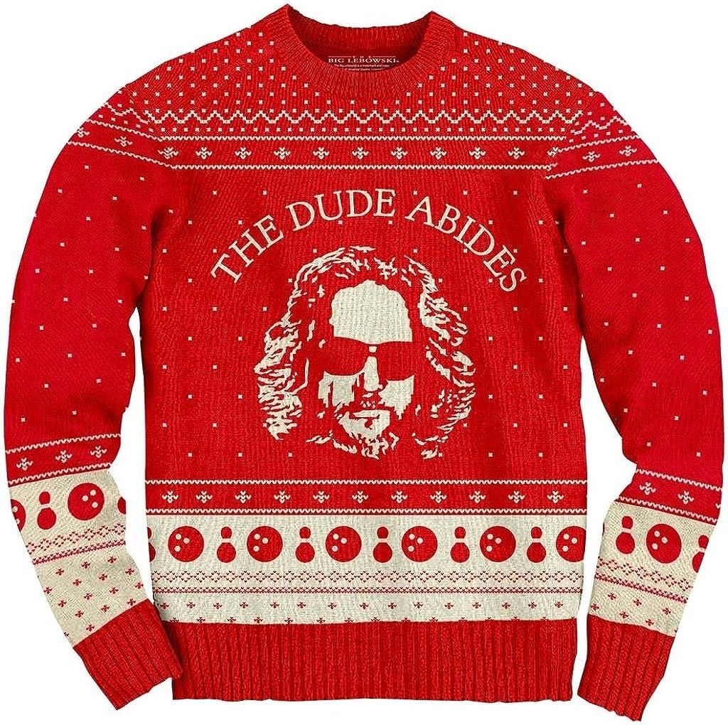 The Big Lebowski Indefinitely Dude Ugly Abides Sweater Christmas Selling