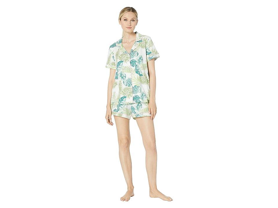 BedHead Pajamas Short Sleeve Classic Short Pajama Set (Island Palm) Women