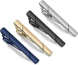 SEVENSTONE 8 Pcs Tie Clips for Men Tie Pin Set Ties Necktie Business Bar Clips