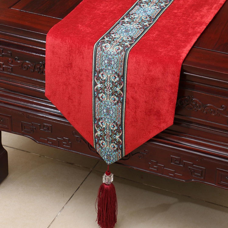 ¡No dudes! ¡Compra ahora! LINGZHIGAN Rojo patrón de de de flores Tela corrojoor Moderna simple de moda Salón de cocina de la habitación Restaurante Hotel Home Textiles (Este producto sólo vende corrojoor de mesa) 33  200cm  mas barato