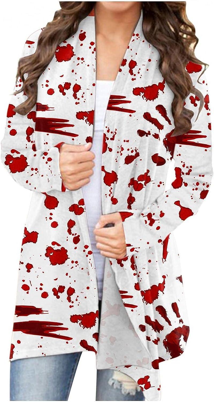 Mingwangseo' Halloween Women Sweatshirts Clearance,Women's Teen Girls Fashion Loose Printed Long Sleeve Hoodies Hooded Sweatshirts Pullover Tops