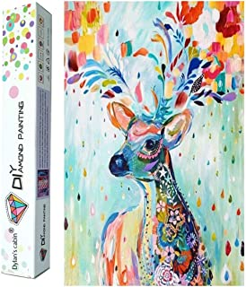 Dylan's cabin 5D DIY Diamond Painting Kits for Adults,Full Drill Embroidery Paint with Diamond for Home Wall Decor(deer/16x12inch)