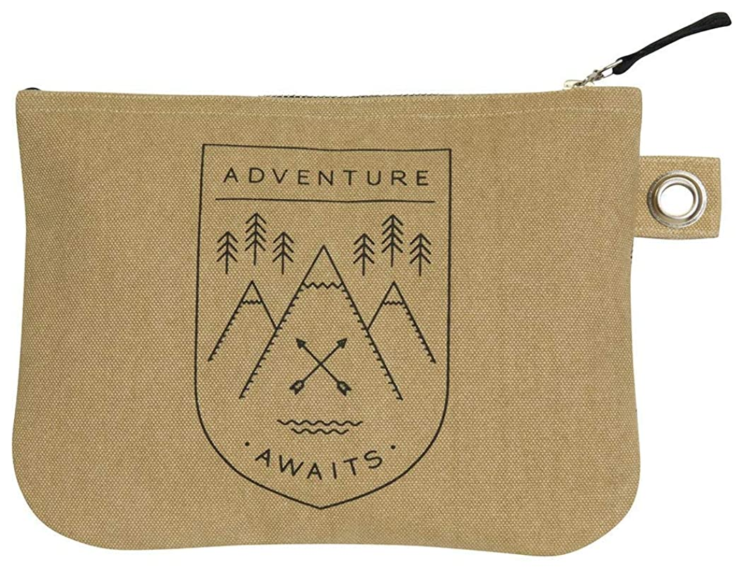 Danica Studio Zipper Pouch, Large, Adventure Awaits