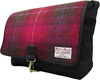 Harris Tweed Mens Authentic Premium Shoulder Strap Despatch Bag (UK Size: One Size) (Cerise)