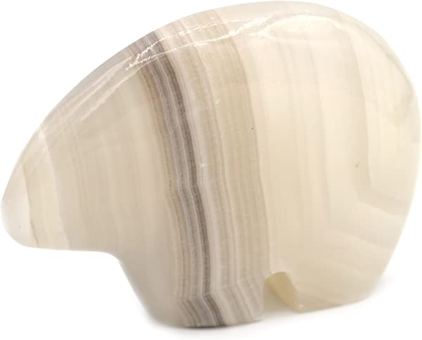 Smoky Grey Stone Polar Bear Figure 2 5 Long Carved From Real North American Onyx The Artisan Mined Series By HBAR