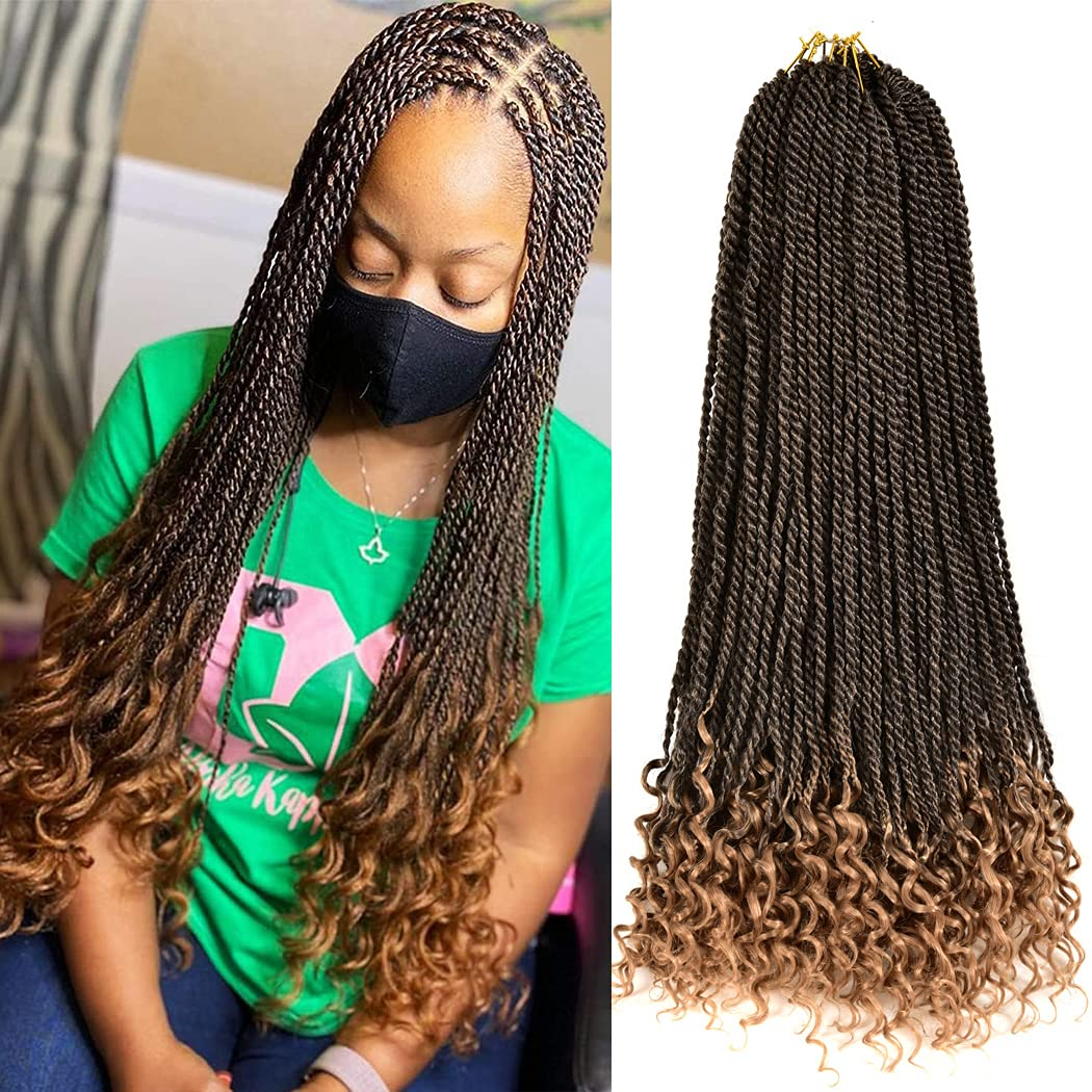Relena 5 Packs Goddess Senegalese with Crochet Jacksonville Mall Max 82% OFF Hair Twist Curly