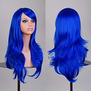 Best electric blue wig long Reviews