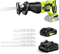 Reciprocating Saw - SnapFresh Cordless Reciprocating Saw Battery-powered, 20V 2.0Ah Cordless Saw, 1 Hour Fast Charger, Pow...