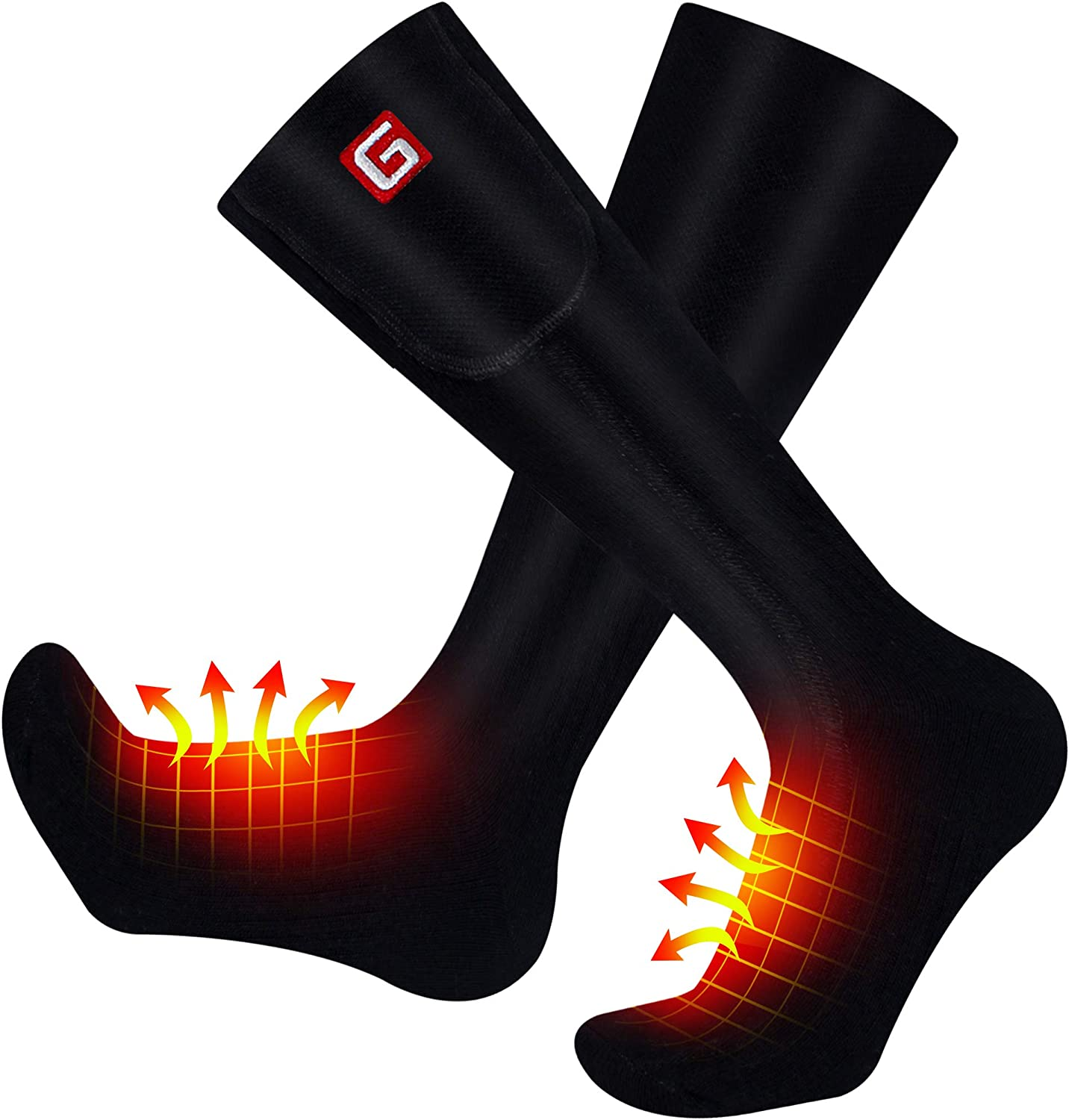 MMlove Battery Heated Socks Year-end annual In stock account Rechargea for Women Men