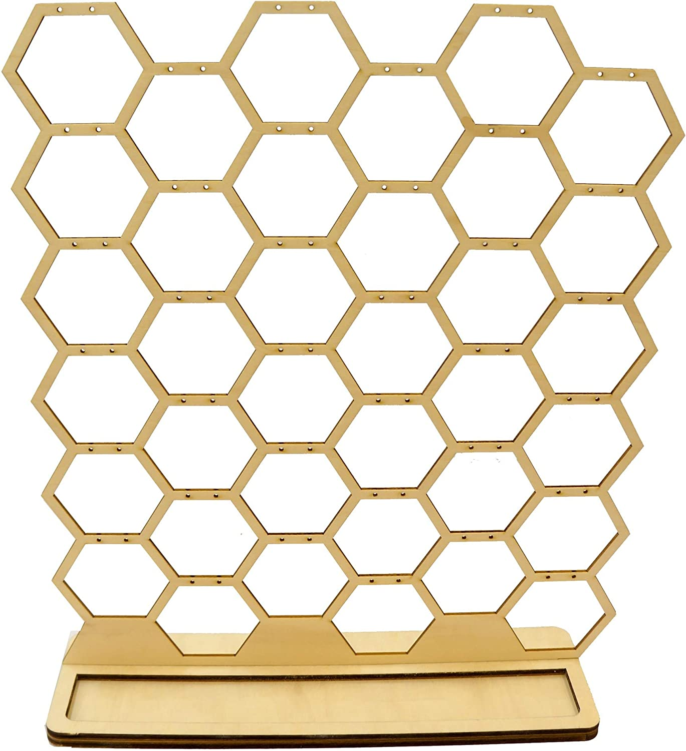 32 Honeycomb Honeycomb Earrings Jewelry Wood Display Stand Hexagon Geometric Shapes for Craft Fair Trade Show and Shop