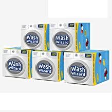 Wash Wizard Laundry Ball (5-Pack) Reusable, Natural, Hypoallergenic & Eco-Friendly Washer Ball Laundry Detergent Alternati...