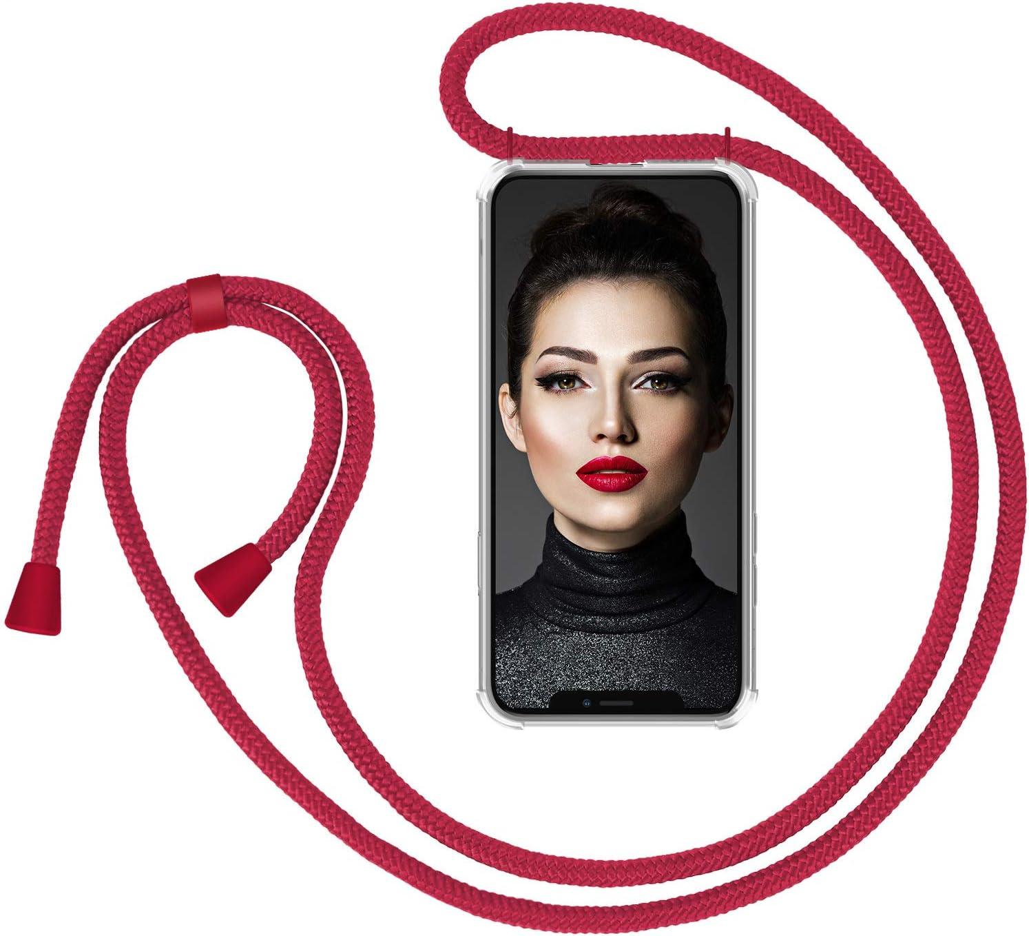 Carcasa con Correa para Celular para Llevar Funda con Collar de Cord/ón para Smartphone ZhinkArts Cadena para Tel/éfono M/óvil Compatible con Apple iPhone XS MAX Oro//Marr/ón