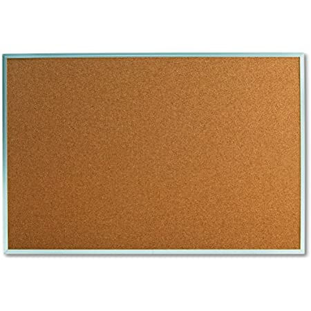 Sold as 1 Each Cork Board with Aluminum Frame 36 x 24 Natural Silver Frame