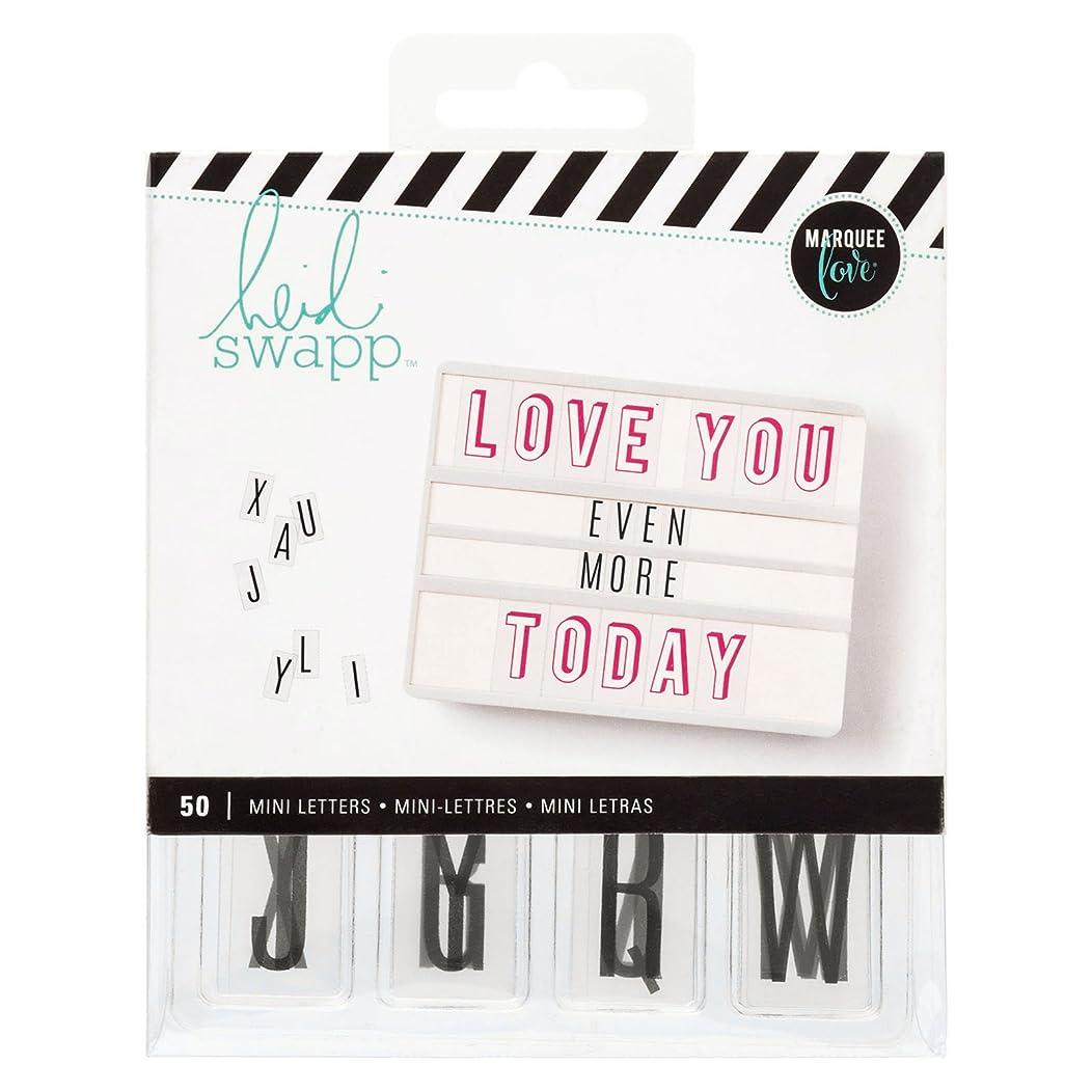 American Crafts 312893 Heidi Swapp Lightbox Mini Alpha Inserts Black 50 Piece