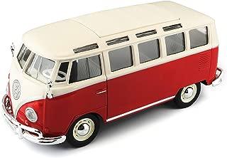 Tavitoys- 1/24 Special VW Samba Blanco y Rojo (31956W/R), Color Crema y Verde (1)