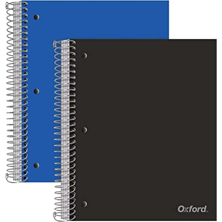 Cobalt Blue Notebook Wide Ruled Paper 200 Sheets 5 Subject 10-1//2 Inch x 8 Inch