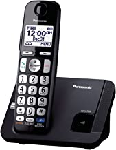 Panasonic Amplified Cordless Phone KX-TGE210B DECT 6.0 with Enhanced Noise Reduction - 1 Handset (Black/Silver) (Renewed)